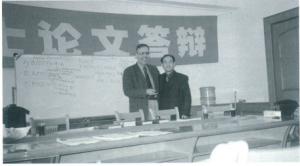 斯塔西纳基斯先生与上海外国语大学朱圣鹏教授(右)
