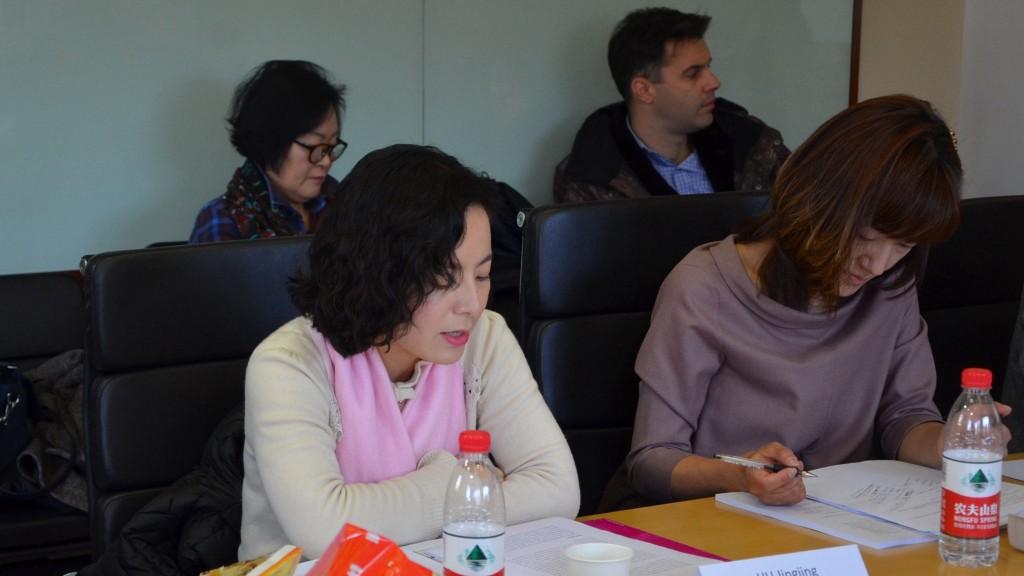 上海外国语大学教授胡晶晶作报告